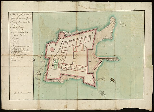 Fort de Brescou 1787 map