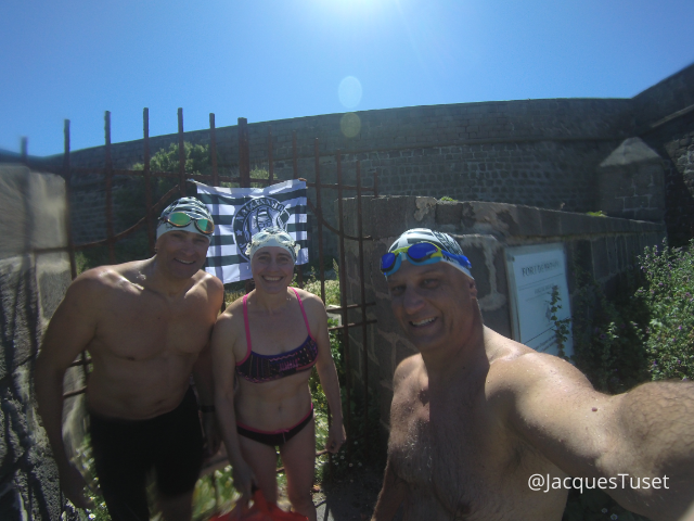 Swimmers at Fort de Brescou