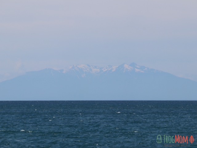 El Canigó above the Mediterranean sea