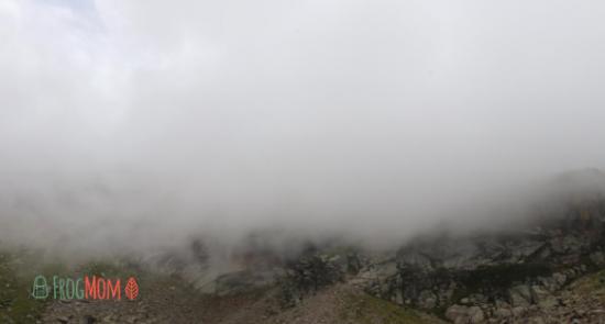 Foggy views from Col de la Lhasse