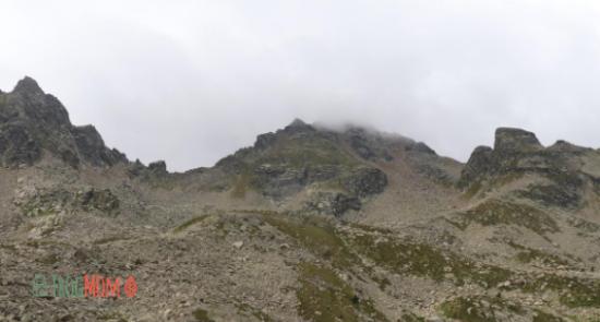 Pic du Rulhe in clouds