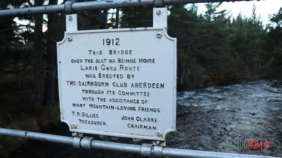 Rothiemurchus Estate - Iron bridge plaque